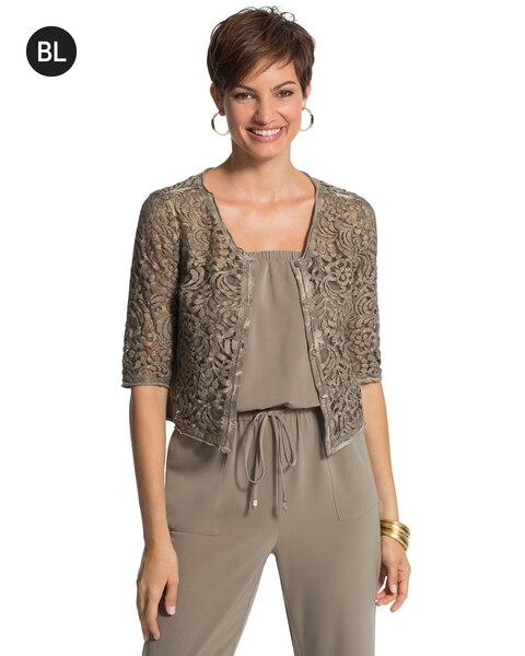 Cropped Lace Cardigan - Chicos