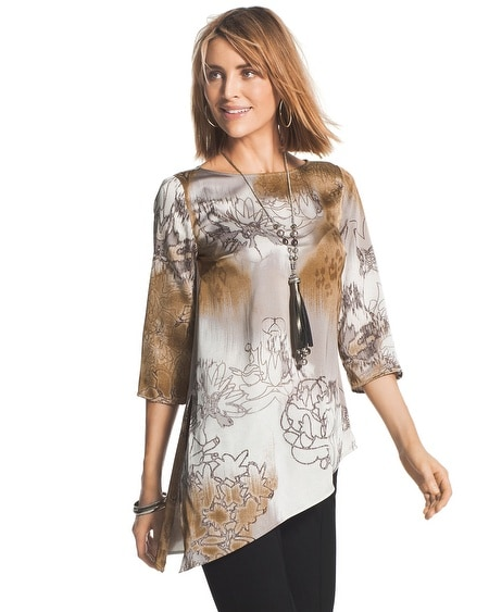 Travelers Collection Floral-Print Top