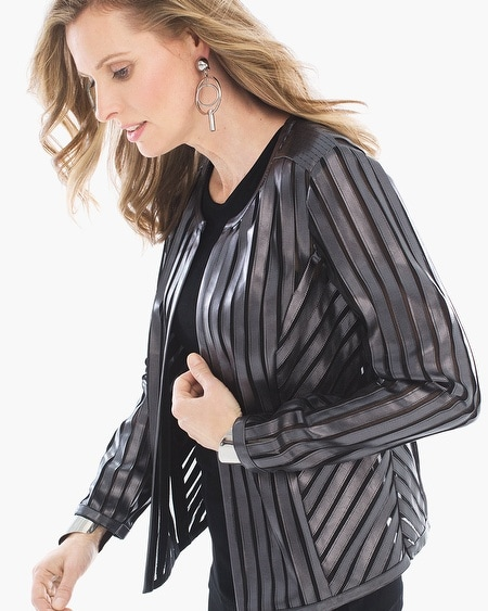 Travelers Collection Striped Jacket
