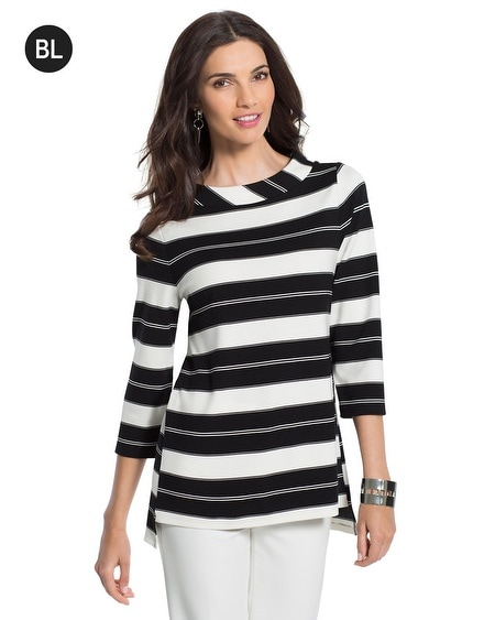 Black Label Striped Top