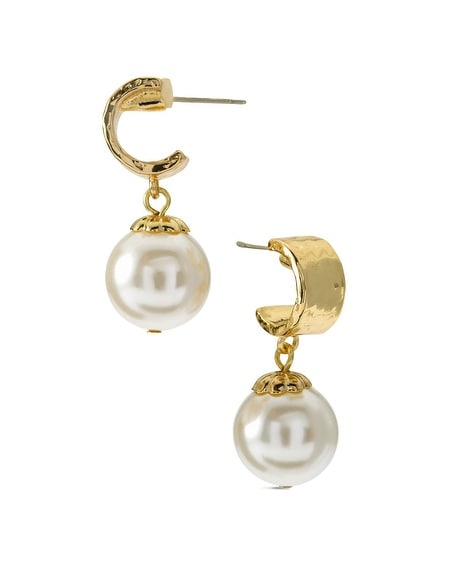 Arie Simulated Pearl Earrings