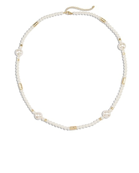 Aster Simulated Pearl Necklace