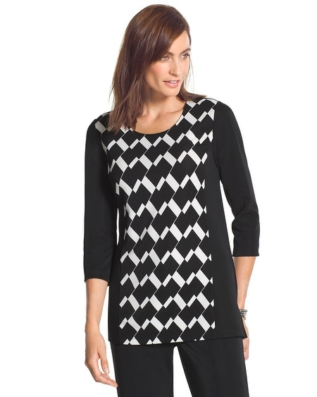 Travelers Collection Chelsea Diamond-Print Tunic