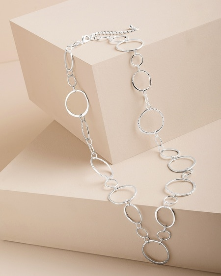 Remi Silver-Tone Link Necklace