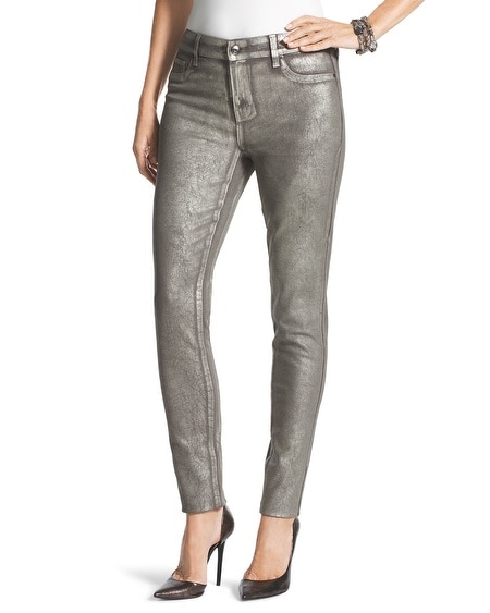 Platinum Coated Jeggings