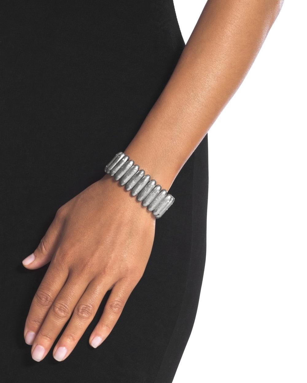 Kellen Silver-Tone Stretch Bracelet - Chicos