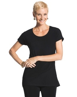 Travelers Classic Mixed Texture Black Top