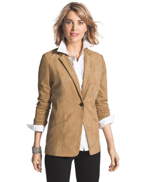9b18d6f0eb5 Return to thumbnail image selection Faux-Suede Blazer video preview image