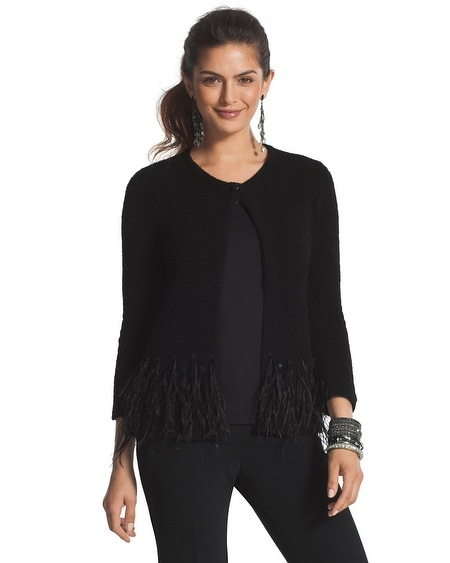 Sequin Feather Camilla Cardigan