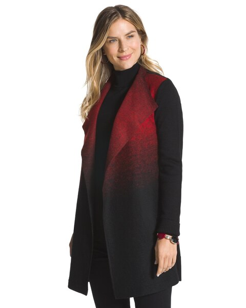 Ombre Plush Duster Jacket - Chicos