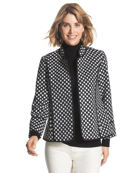 Polka-Dot Plush Jacket