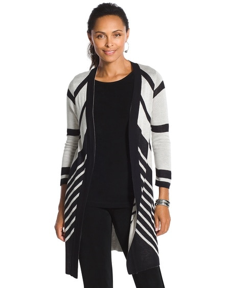 Travelers Collection Chevron Cardigan