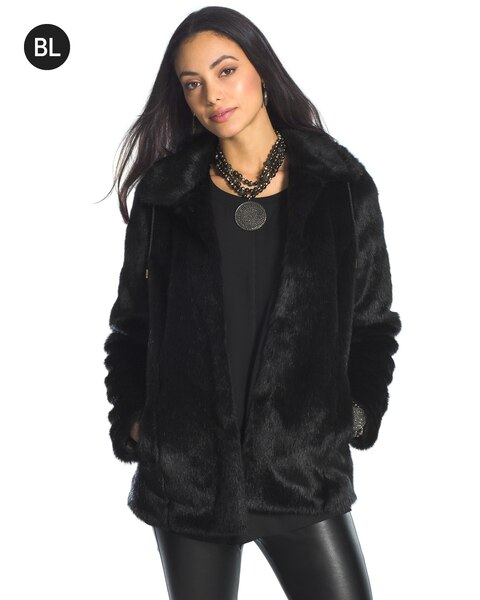 Faux Fur Coat With Leather Sleeves Next - Tradingbasis
