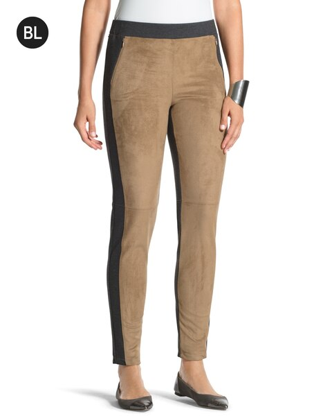 841cc41e16ab3 Return to thumbnail image selection Suede-Front Leggings video preview  image, click to start video