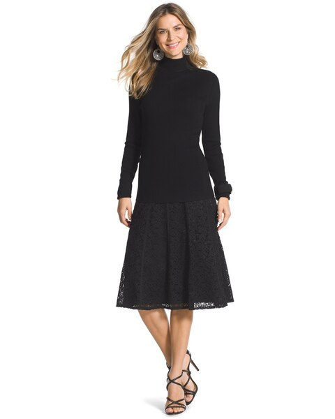 Black Lace Skirt - Chicos