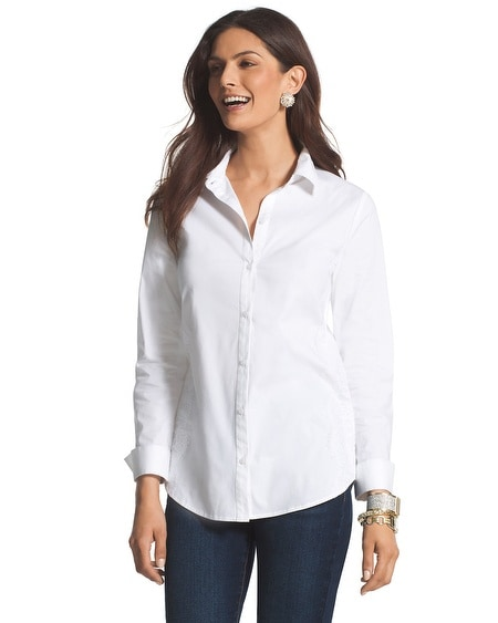 Lace-Detailed Shirt
