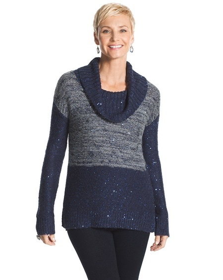 Maddie Space-Dyed Cowl Neck Sweater