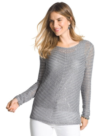 Sparkle Striped Lindsey Sweater