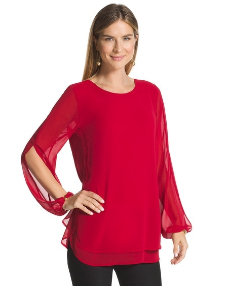 Double-Layer Amara Red Top