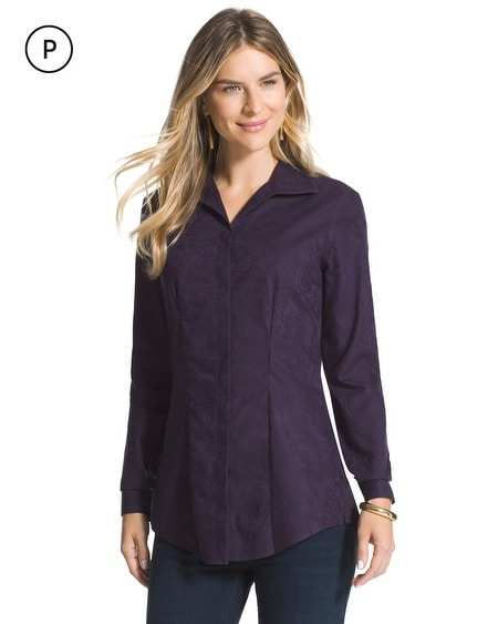 Petite Effortless Jacquard Jesse Shirt