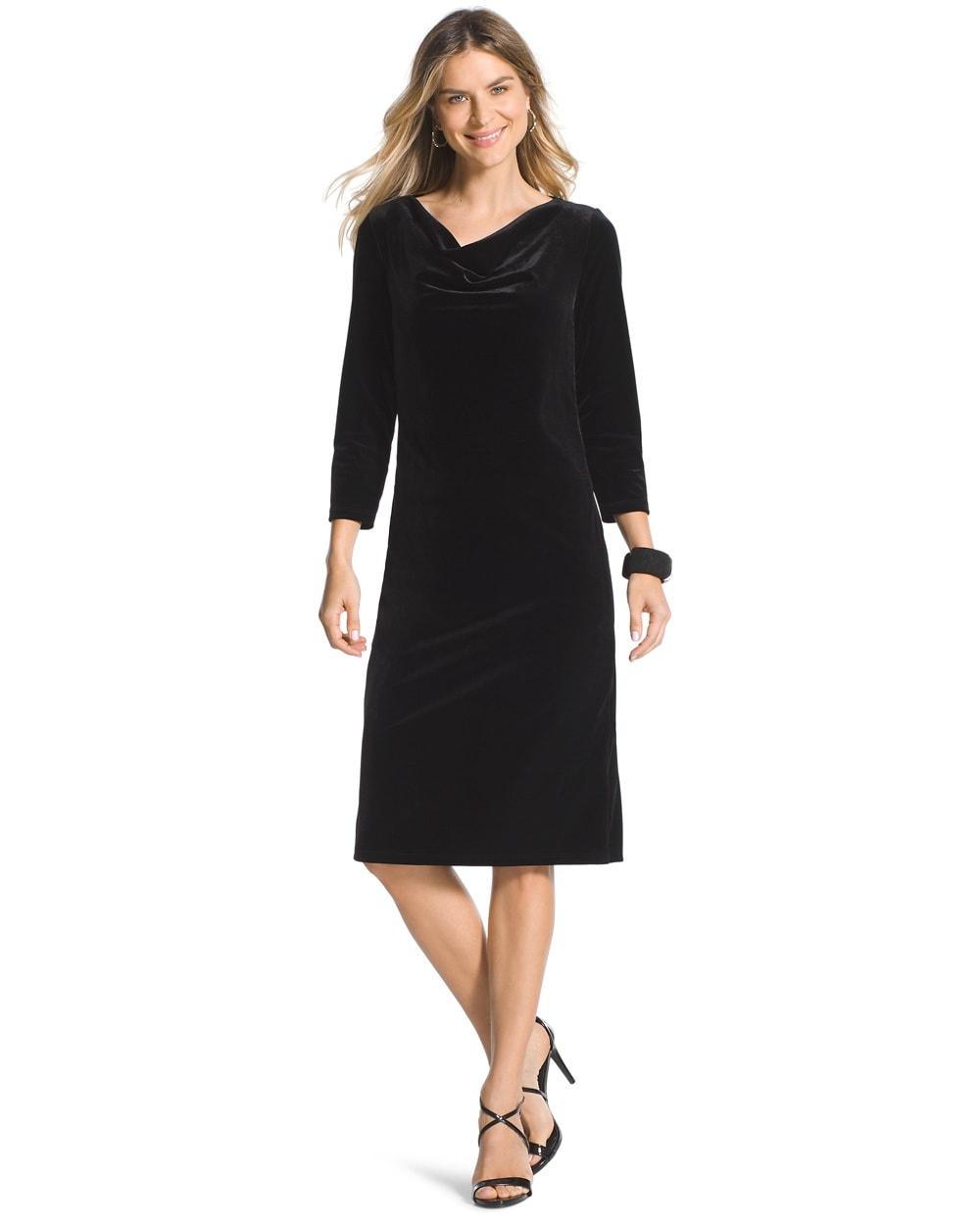 Travelers Collection Velvet Black Dress - Chicos