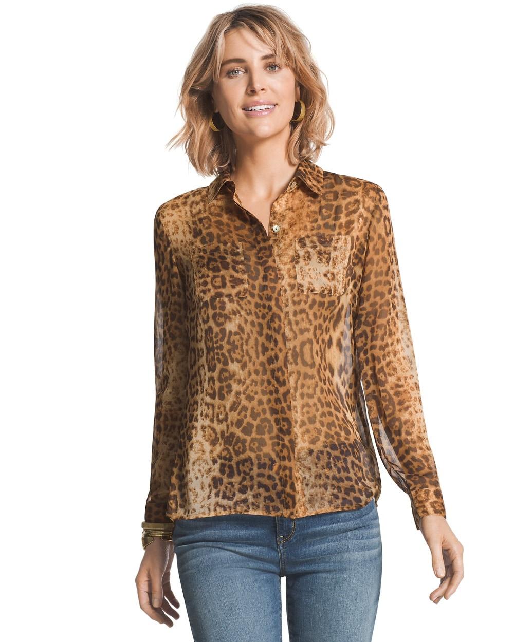 60ed8e1927edc Return to thumbnail image selection Leopard Dreams Liana Shirt video  preview image