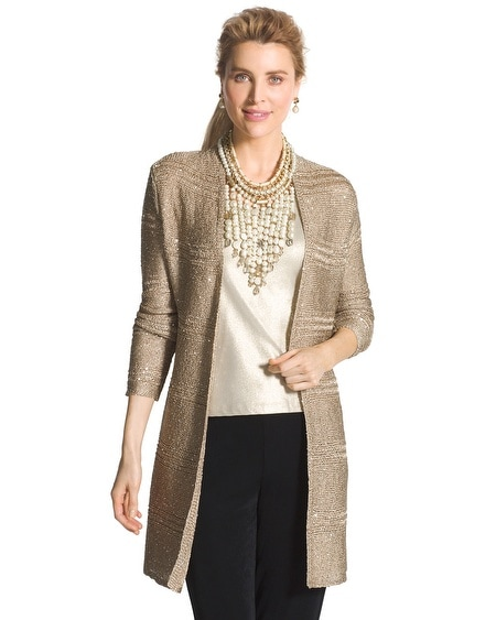 Travelers Collection Sequin Cardigan