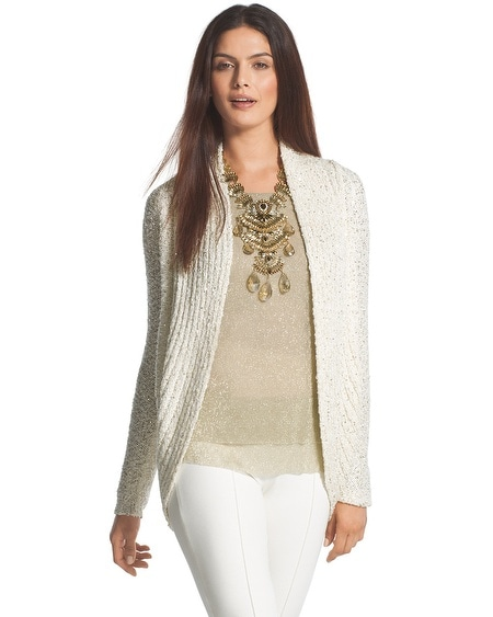 Sequin Shine Claytia Cocoon Cardigan