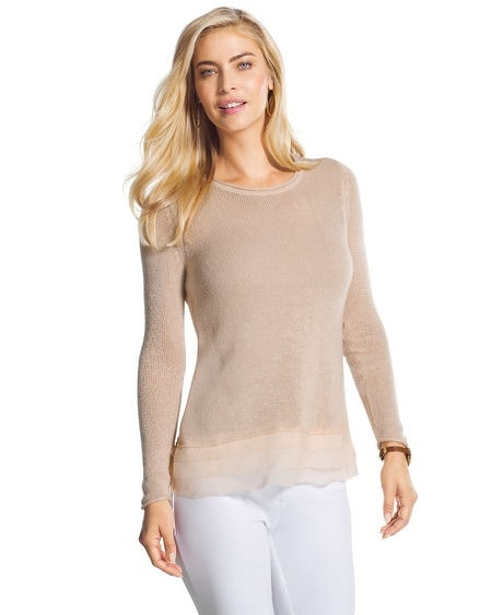 Tiered-Hem Tina Sweater