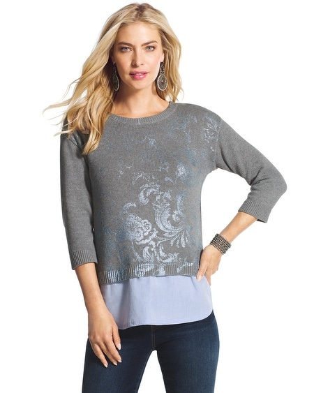 Rebecca Foiled Floral Sweater