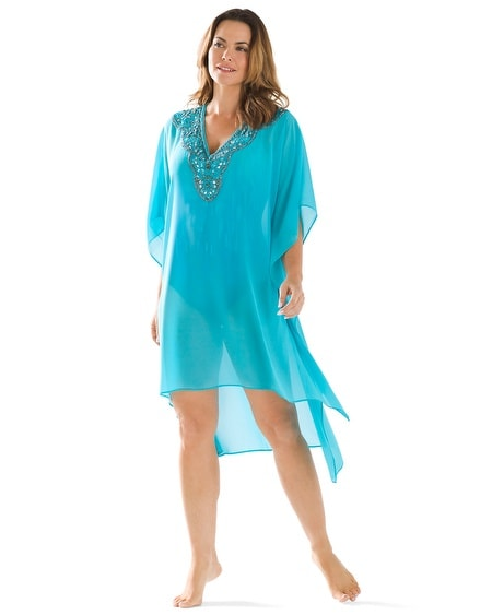Embellished Caftan Swim Cover Up