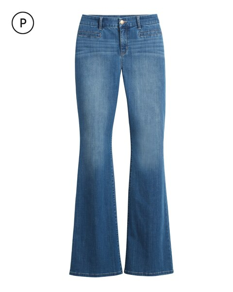 Petite Girlfriend Flare Jeans - Chicos