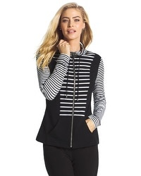 Zenergy Knit Collection Stripe Inset Jacket
