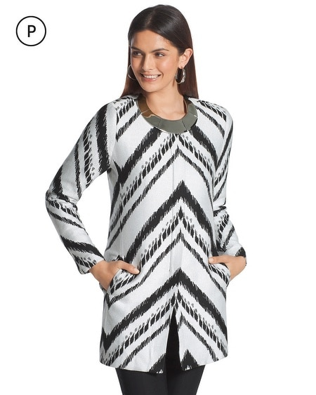 Petite Abstract Chevron Topper Jacket