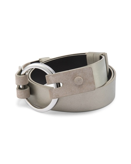 Metallic Cutout Belt