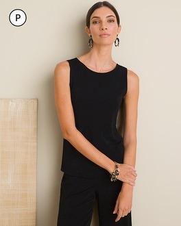 Chico's Petite Essential Reversible Tank | Tuggl