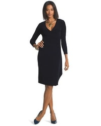 Travelers Classic Faux-Wrap Dress