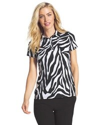 Zenergy Golf Graphic Zebra Polo