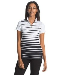 Zenergy Golf Sparkle Striped Polo
