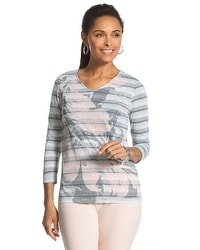 Zenergy Georgina Foil Striped Top