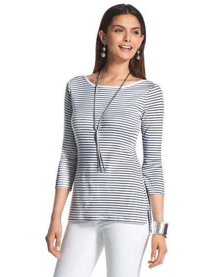 Julia Striped Cotton Top