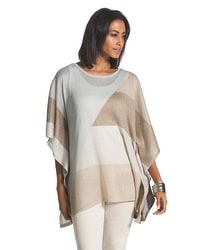 Shimmer Shayla Colorblock Poncho