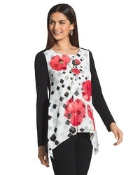 Travelers Collection Floral Print Top