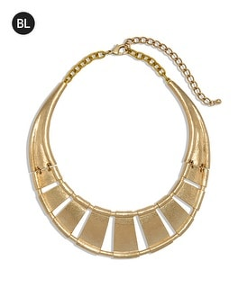 Black Label Cutout Collar Necklace