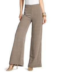 Abstract Diamonds Wide-Leg Trousers