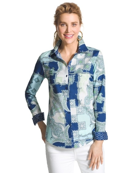 Effortless Paisley Pop Giana Shirt