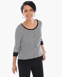Zenergy Hayley Striped Layering Tee