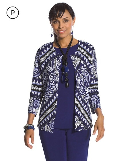 Travelers Collection Petite Print Jacket