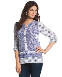 Tiled Dots Tappa Tunic