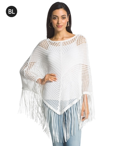 Black Label Fringe Poncho